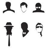Черно укомплектовывает личным составом лицевой комплект собрания иллюстрация штока