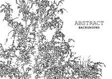 Черные абстрактные короткие отказы на белой предпосылке Стоковое Изображение