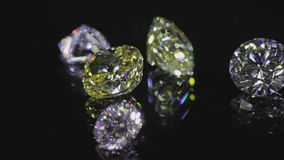 черные алмазы цифрово произвели видеоматериал