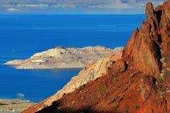 черные башни hoover запруды каньона Стоковая Фотография