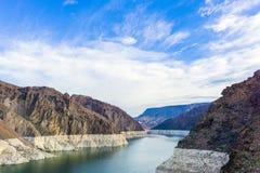 черные башни hoover запруды каньона Стоковые Фото