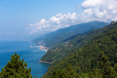Черные берега моря северная Турция Стоковое Фото