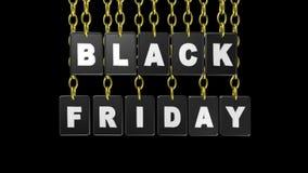 Черные бирки пятницы, видео- анимация иллюстрация штока
