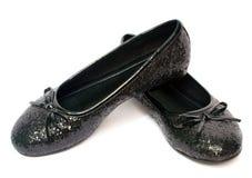 черные ботинки девушки Стоковые Фотографии RF
