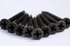 Черные винты для пользы металла Стоковые Изображения RF