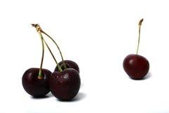 черные вишни сладостные Стоковое Изображение