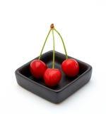 черные вишни 3 шара Стоковая Фотография RF
