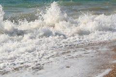 черные волны моря Крыма Стоковая Фотография