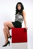 черные волосы девушки Стоковая Фотография RF