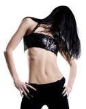 черные волосы девушки Стоковые Изображения RF