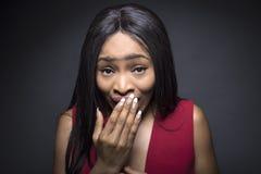 Черные выражения лица женщины Oops Стоковое Изображение
