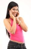 черные джинсыы девушки pink сексуальная верхняя часть Стоковые Фото