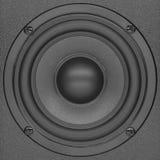 Черные дикторы звука hi-fi Стоковые Фото
