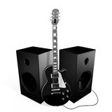 черные дикторы утеса гитары Стоковая Фотография RF
