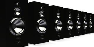 черные дикторы Стоковое фото RF
