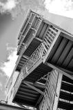 черные лестницы белые стоковые изображения