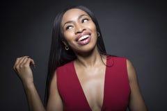 Черные женские беспечальные выражения лица Стоковые Фотографии RF