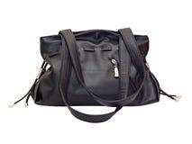 черные женщины кожи s сумки Стоковая Фотография RF