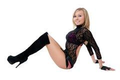 черные женщины трико танцора клуба Стоковые Изображения