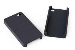 Черные задние стороны обложки smartphone стоковые фотографии rf