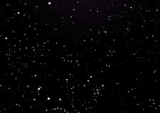 черные звезды ночного неба Стоковые Фото