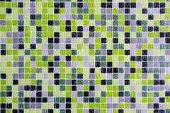 Черные, зеленые и серые плитки мозаики Стоковая Фотография