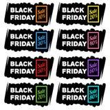 Черные знамена продажи пятницы Стоковое Изображение