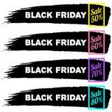 Черные знамена продажи пятницы Стоковые Изображения RF