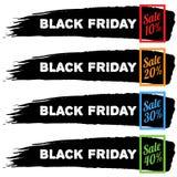 Черные знамена продажи пятницы Стоковые Фотографии RF