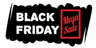 Черные знамена продажи пятницы Стоковое Фото