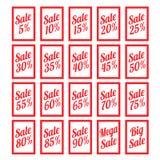 Черные знамена продажи пятницы Стоковые Фото