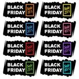 Черные знамена продажи пятницы Стоковая Фотография
