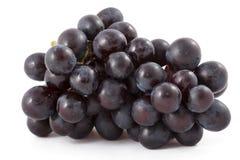 черные изолированные виноградины пука Стоковое фото RF