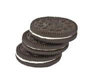 черные изолированные печенья Стоковое Фото