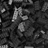 Черные и серые пластиковые блоки стоковое фото