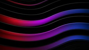 Черные и фиолетовые волнистые кривые резюмируют перевод 3D иллюстрация вектора