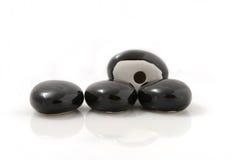 Черные камни для камина Стоковое Изображение RF