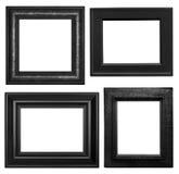 Черные картинные рамки Стоковые Изображения RF