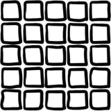 Черные квадраты - безшовная картина иллюстрация штока