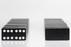 Черные кирпичи домино Стоковые Изображения RF