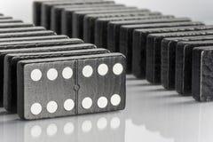 Черные кирпичи домино Стоковое Изображение RF