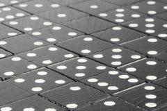 Черные кирпичи домино Стоковые Фото