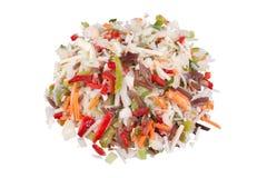 черные китайские, котор замерли грибные овощи смешивания Стоковое Изображение