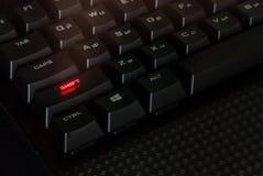 Черные клавиатуры, технология Ключи стоковое фото