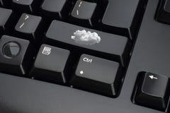 черные клавиши на клавиатуре компьютера Стоковое Изображение RF