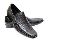 черные классицистические ботинки Стоковое Фото