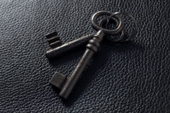 черные ключи кроют кожей 2 Стоковое Изображение RF