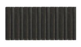 Черные книги в строке Стоковые Изображения