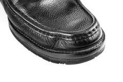 Черные кожаные изолированные ботинки Стоковое Фото