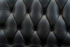Черные кожаные обои предпосылки текстуры Стоковая Фотография RF